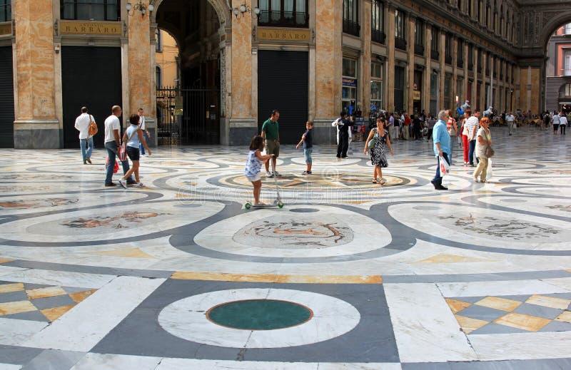 Winkelcentrum Galleria Umberto, Napels, Italië stock afbeelding