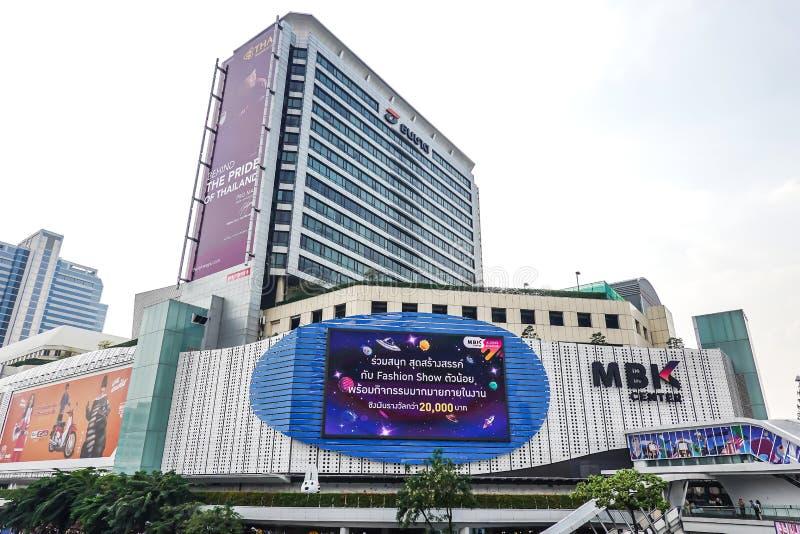 Winkelcentrum MBK MBK is een groot winkelcomplex, restaurants, IT product, mobiele telefoon, en de dienst Bangkok, Thailand stock foto