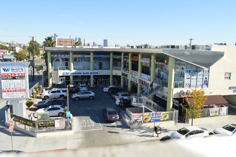 Winkelcomplex Koreatown Los Angeles 2015 stock fotografie