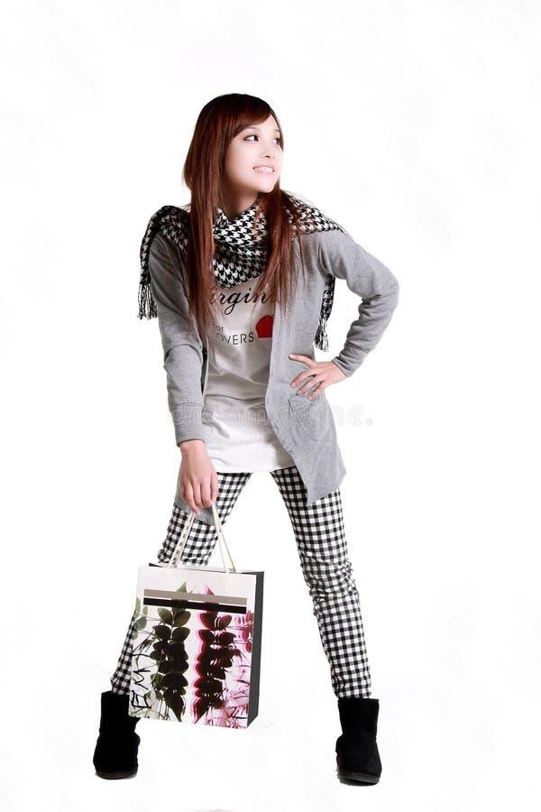 Winkelend meisje. stock foto's