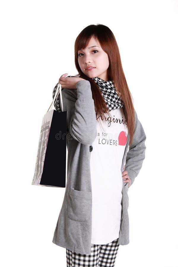 Winkelend meisje. royalty-vrije stock foto