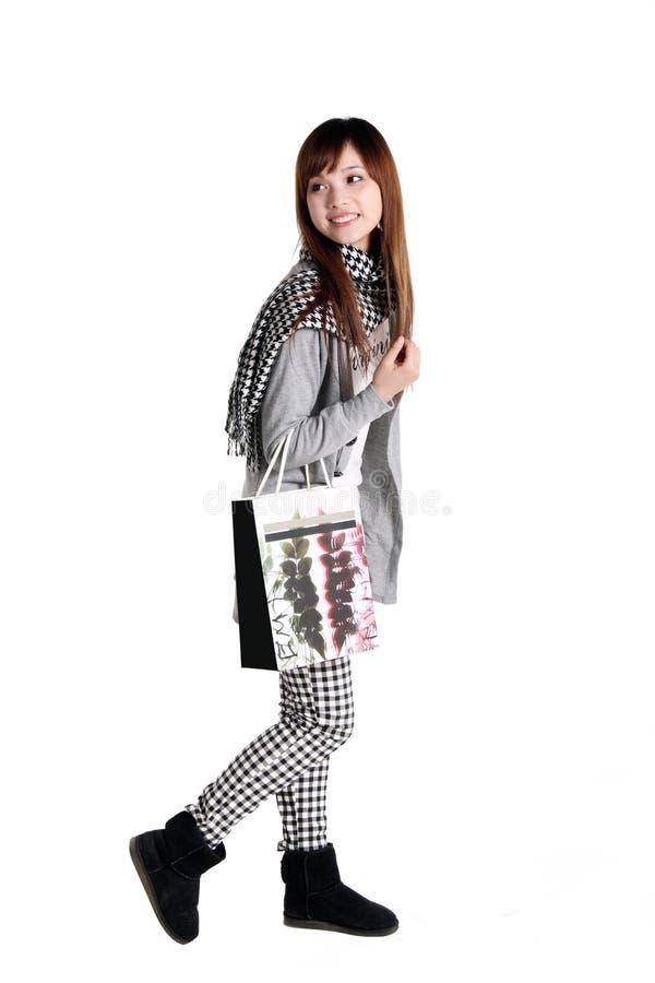 Winkelend meisje. stock fotografie