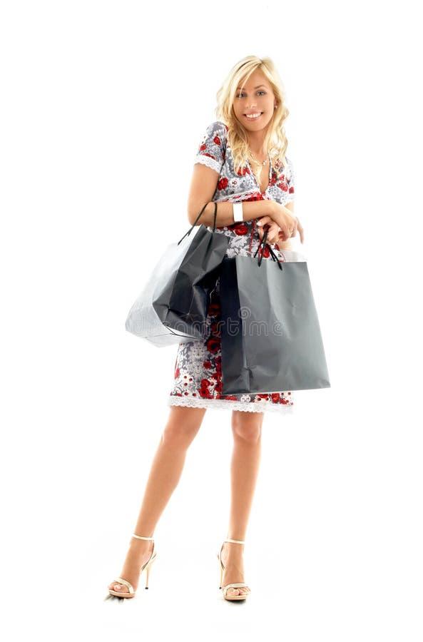Winkelende dame #2 royalty-vrije stock afbeelding