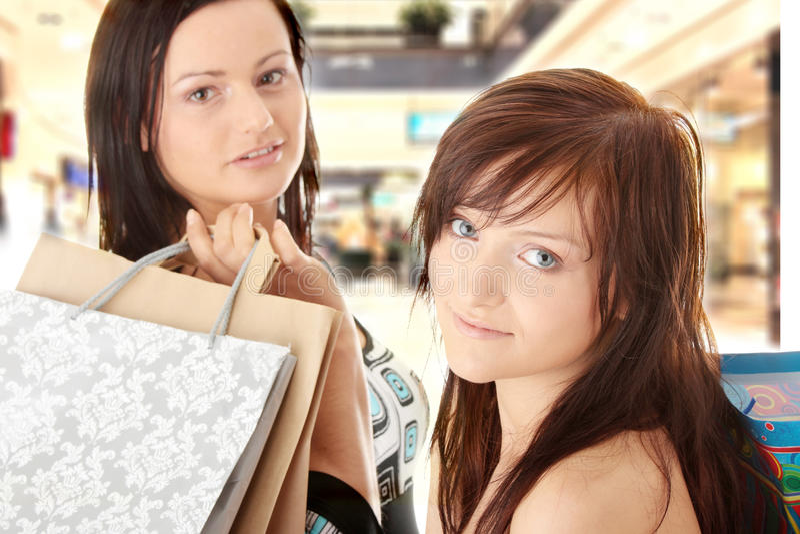 Winkelende Vrouwen royalty-vrije stock foto's
