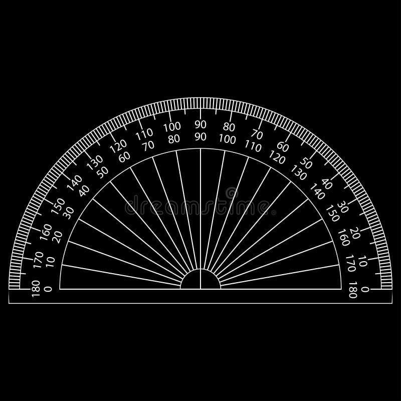 Winkelmesser vektor abbildung