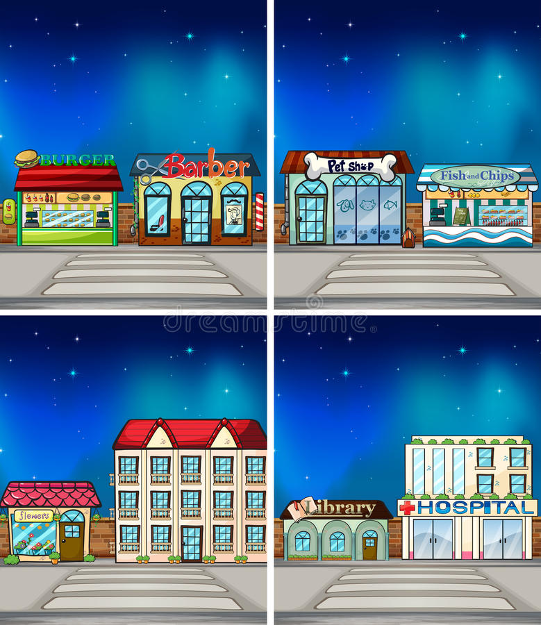 winkels vector illustratie