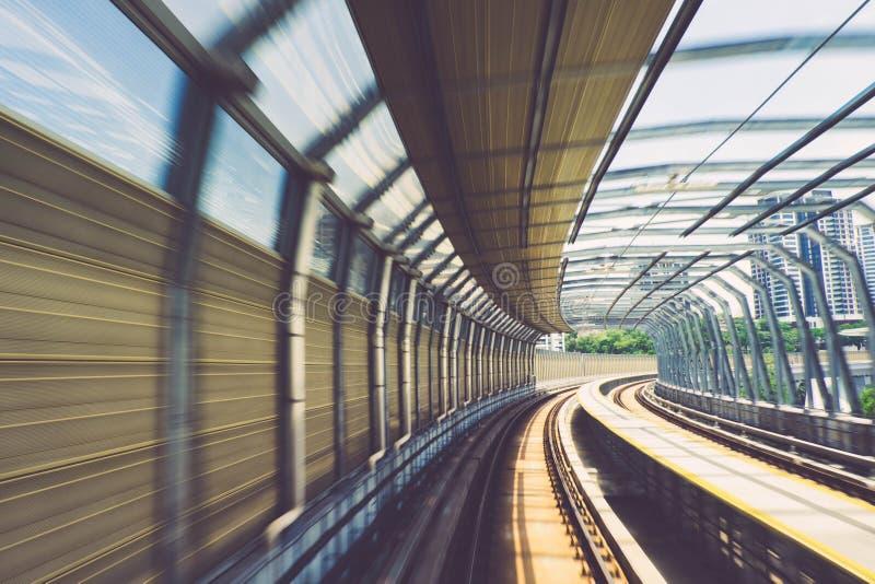 Winken Sie Effekt spezielle Designbrücke der malaysischen Massenstadtschnellbahnbahn zu stockbilder