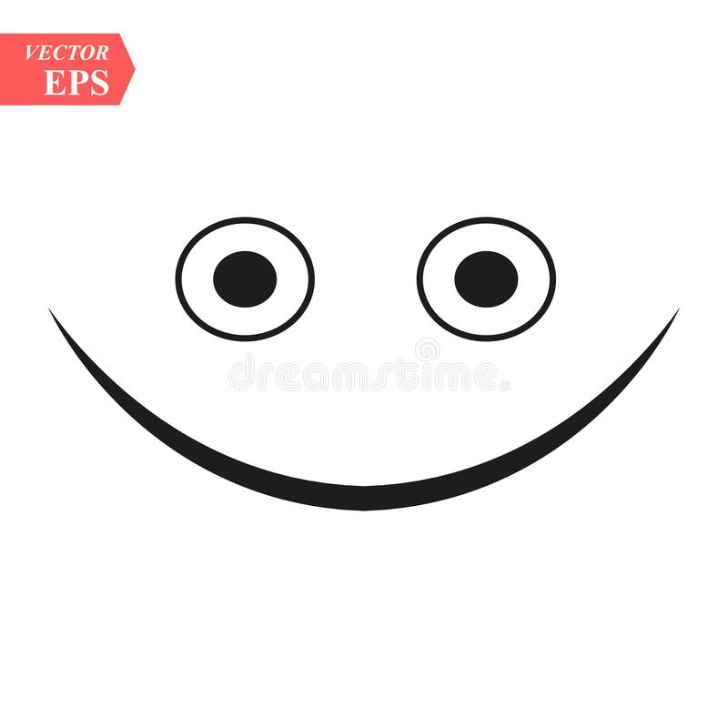 Winking line smiley. Thin line smile emoticons isolated on a white background. Vector illustration vector illustration