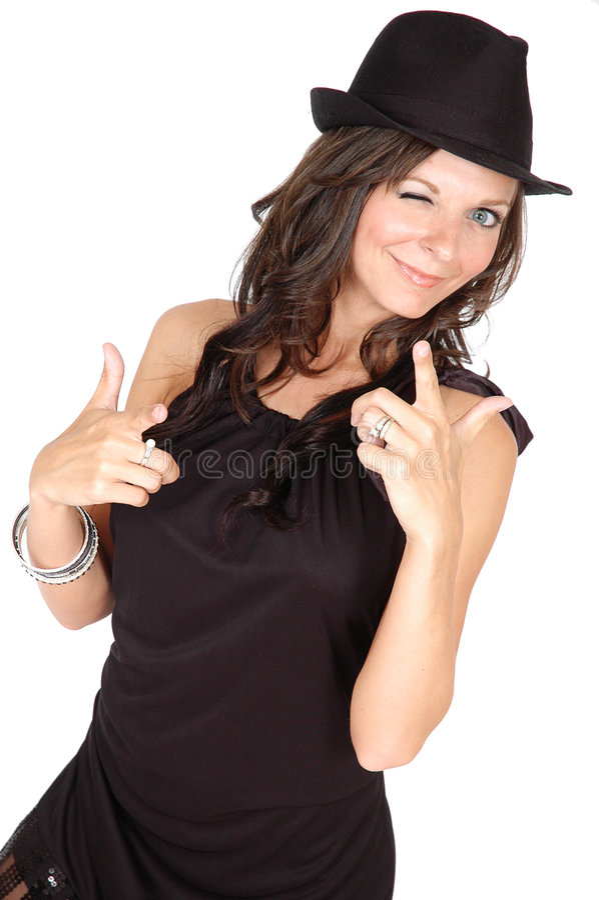 Winking Woman Royalty Free Stock Photos