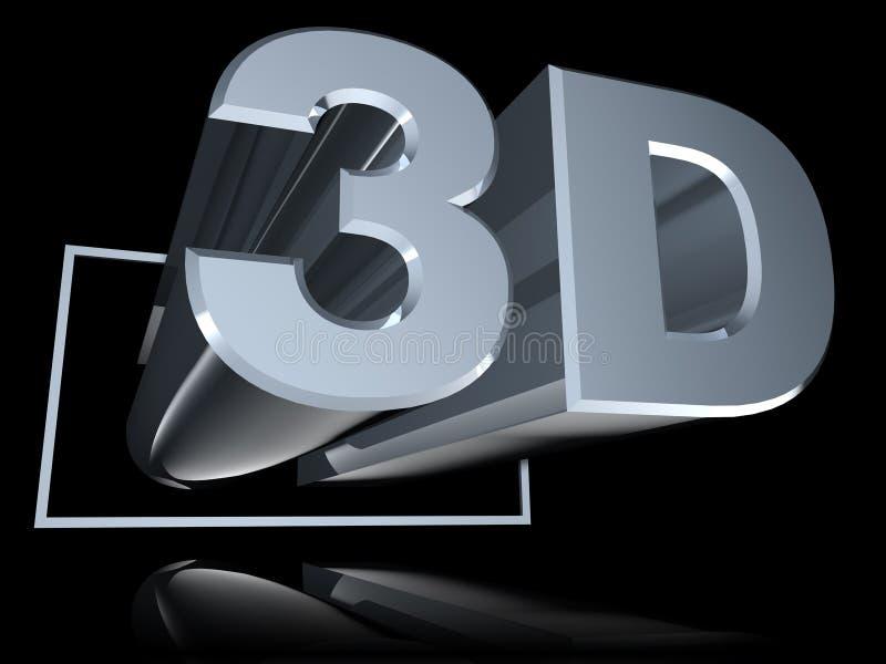 Winkliges 3D nachgedacht über Schwarzes lizenzfreie stockfotografie