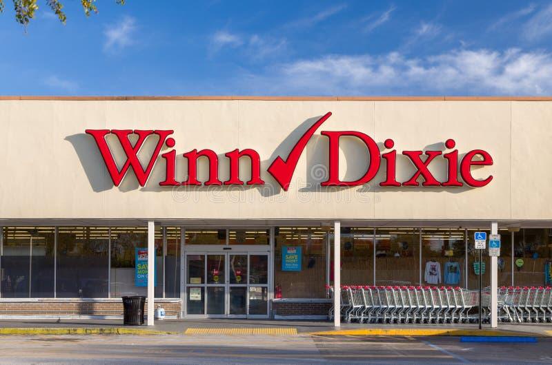 Winn-Dixie Kruidenierswinkelopslag royalty-vrije stock foto