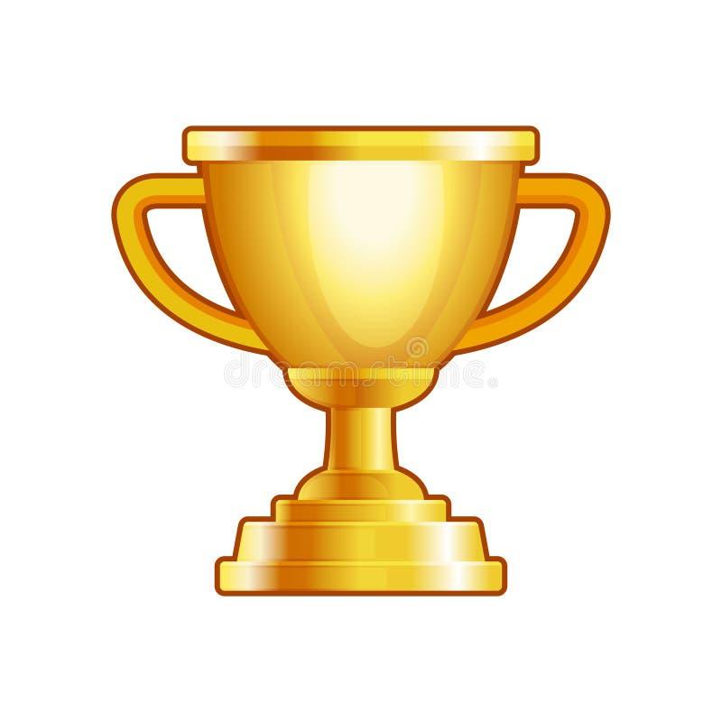 Winnaar Gouden Kop op Witte Achtergrond Vector stock illustratie
