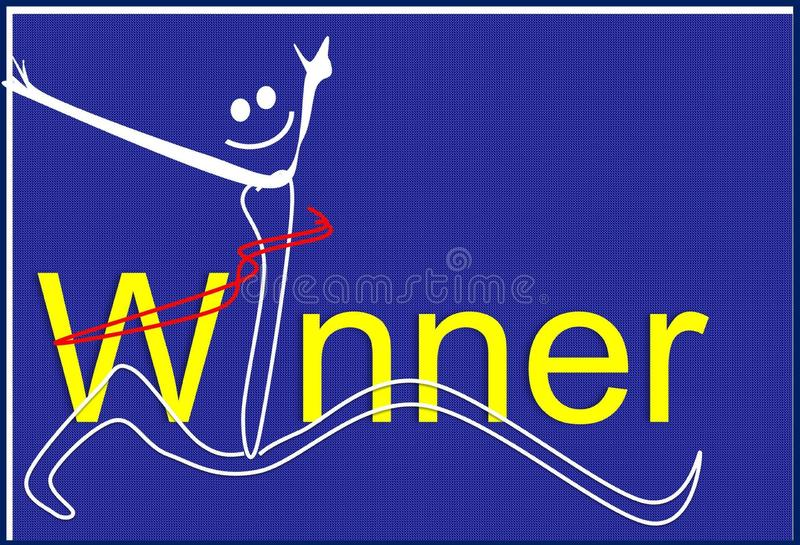 winnaar Illustratie, achtergrond vector illustratie