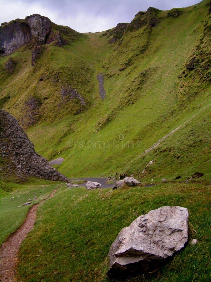 Download Winnats Pass stock image. Image of england, mountain, stones - 119383