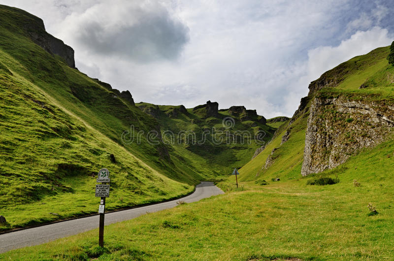 Winnats Pass in Derbyshire royalty free stock photo