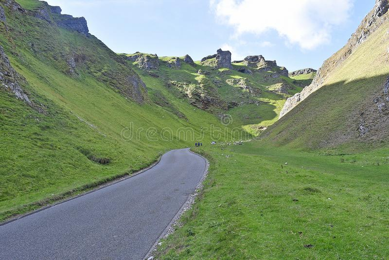 Winnats Pass in the Peak District royalty free stock photography