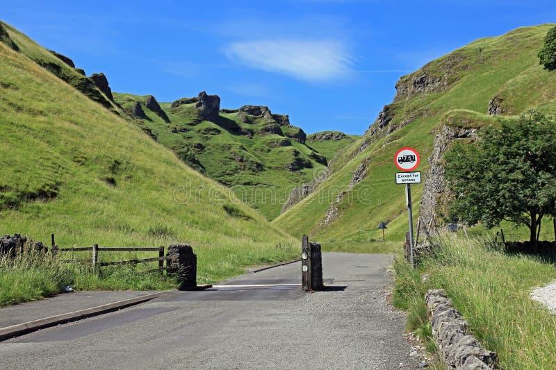 Winnats passerande i Derbyshire royaltyfri bild
