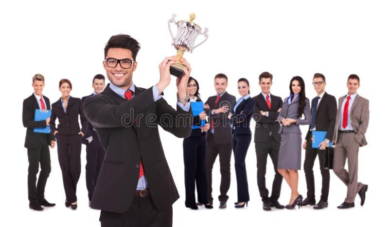 Winnend commercieel team royalty-vrije stock fotografie