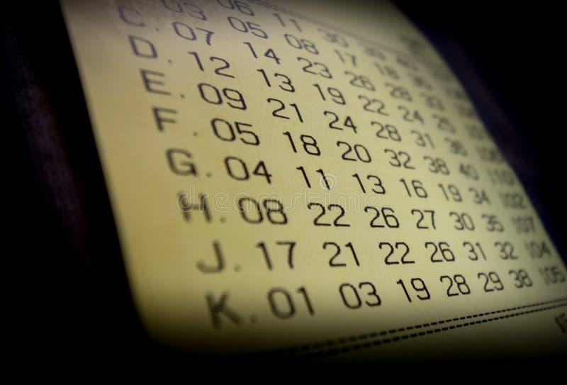 Winnend loterijkaartje stock fotografie