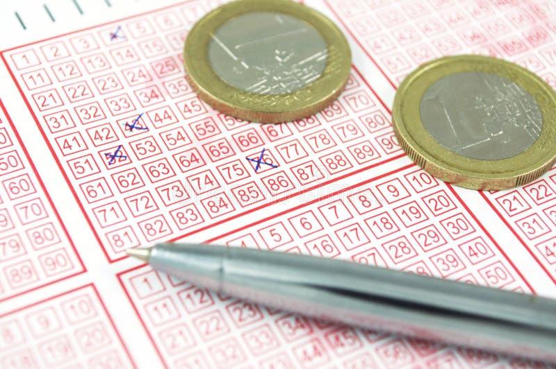 Winnend loterijkaartje royalty-vrije stock fotografie