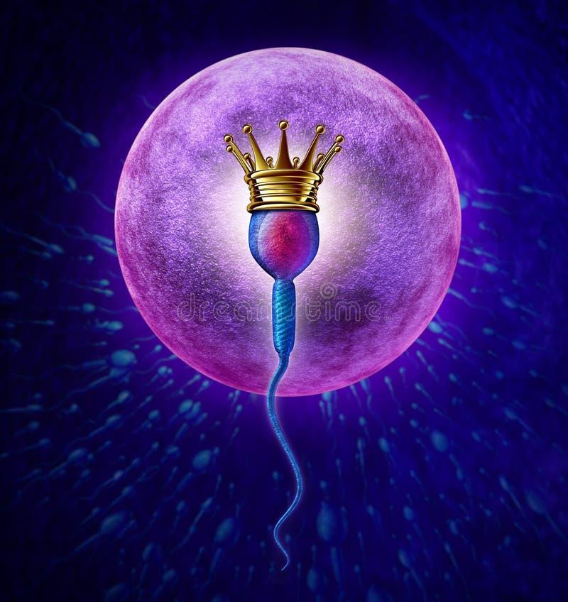 Winnend Sperma stock illustratie