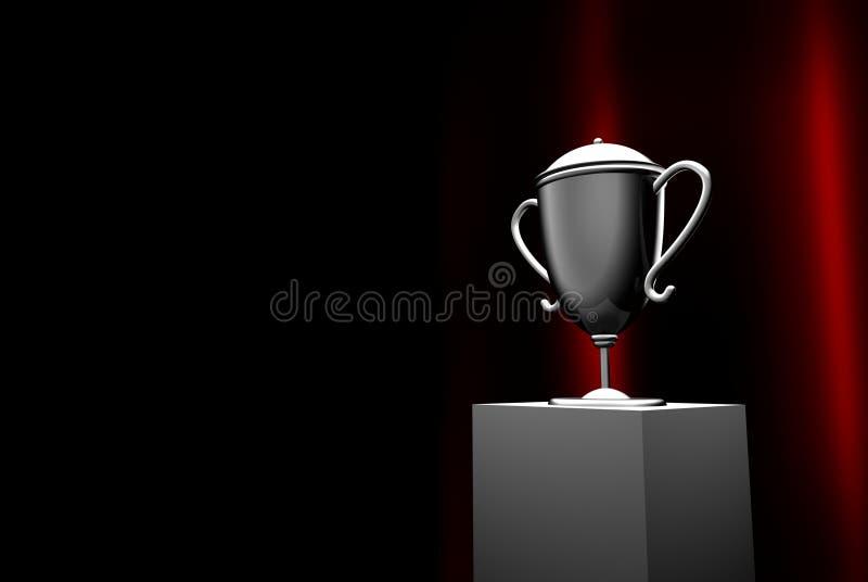 Winnende trofee stock illustratie