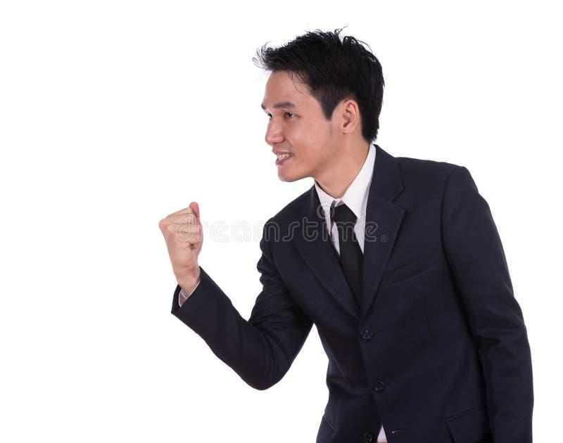 Winnende zakenman stock afbeeldingen