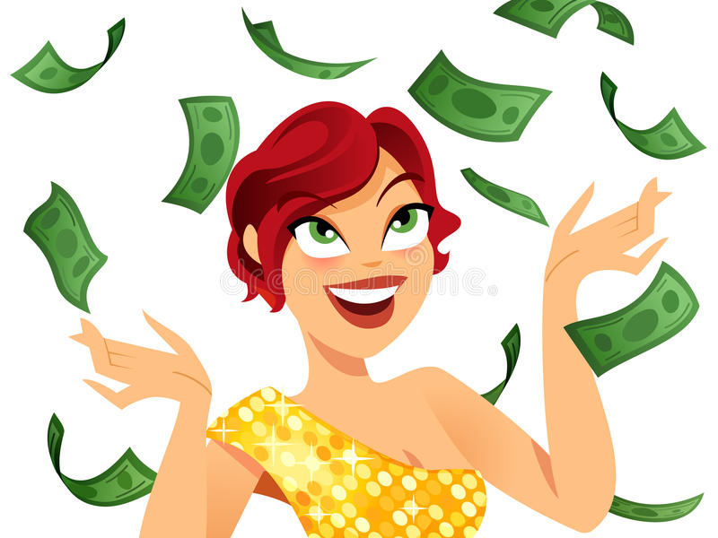 Download Winner stock vector. Illustration of lady, positive, pretty - 26253307