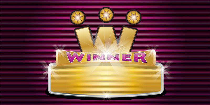 Winner. A winner badge with copy space vector illustration