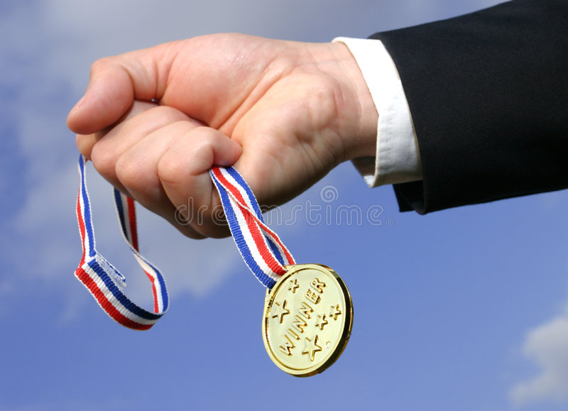 Download Winner stock photo. Image of golden, hold, medal, success - 364344