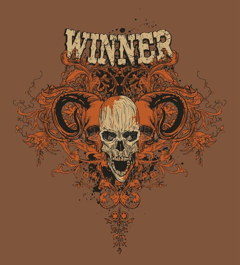 Download Winner stock vector. Image of written, motif, skulls, eerie - 4333974