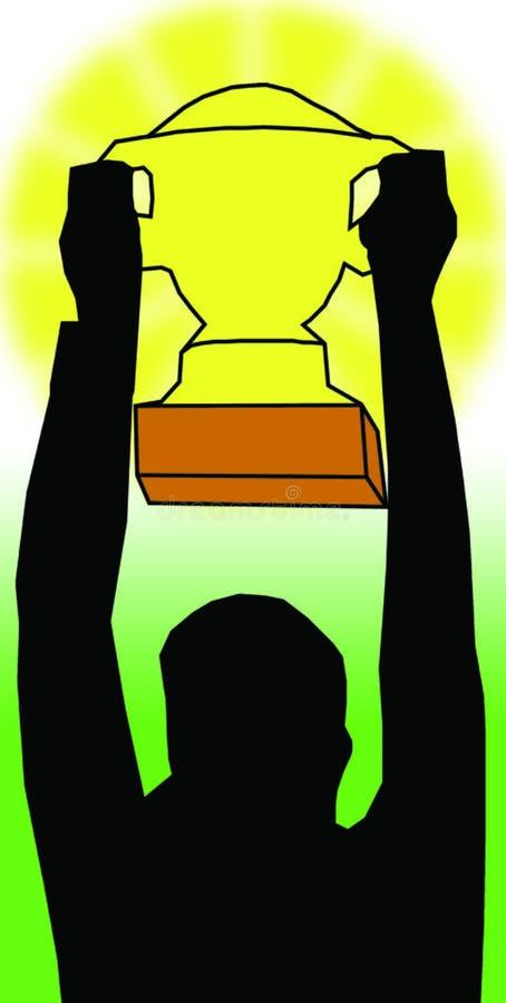 Winner stock illustration