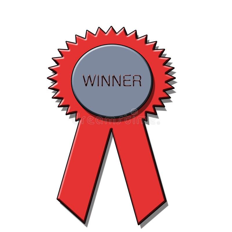 Winner award ribbon royalty free stock images