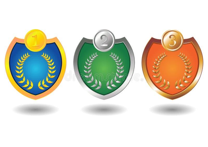 Winner Badges Stock Photography