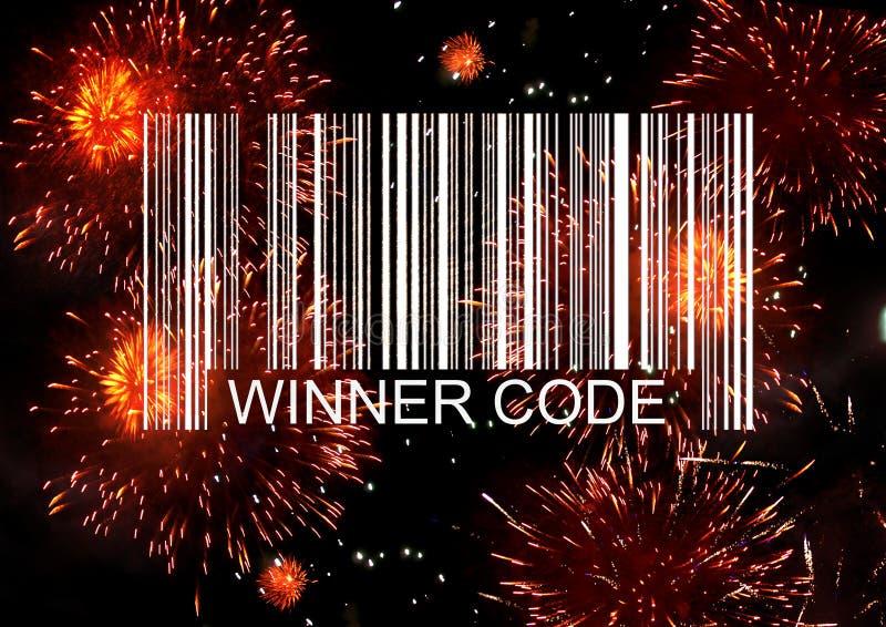 Winner barcode stock illustration