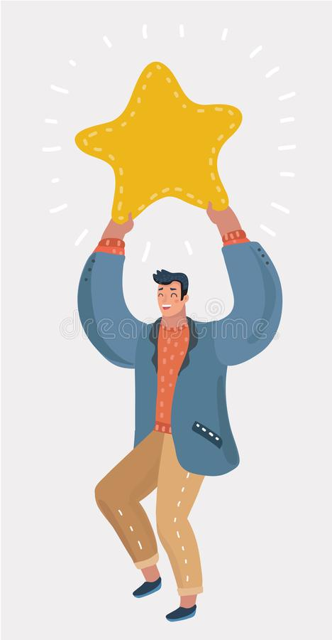 Winner becoming a reward, a metaphor for success. royalty free illustration