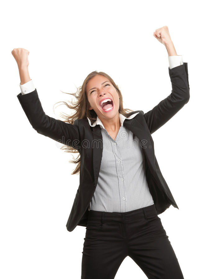 Winner Businesswoman With Success Royalty Free Stock Image