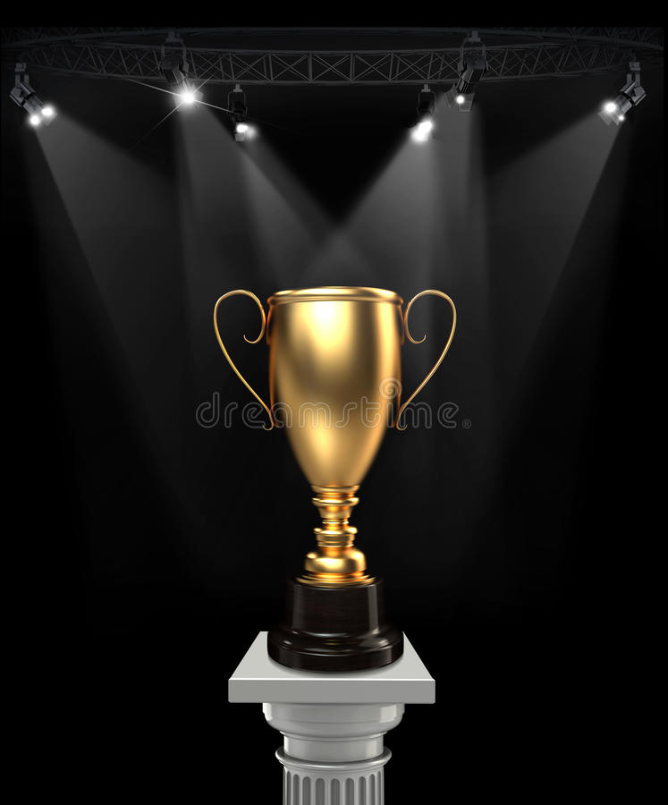 Winner cup. royalty free stock photo