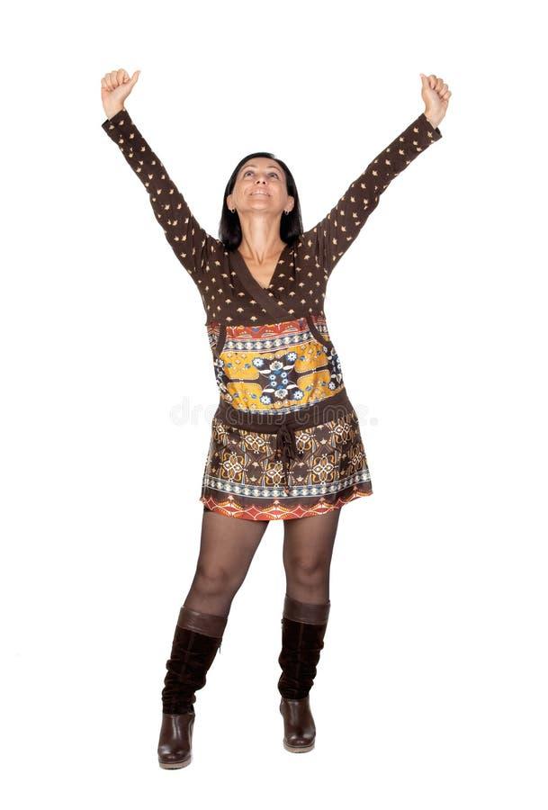 Download Winner girl stock photo. Image of brunette, fresh, lifestyle - 11549310