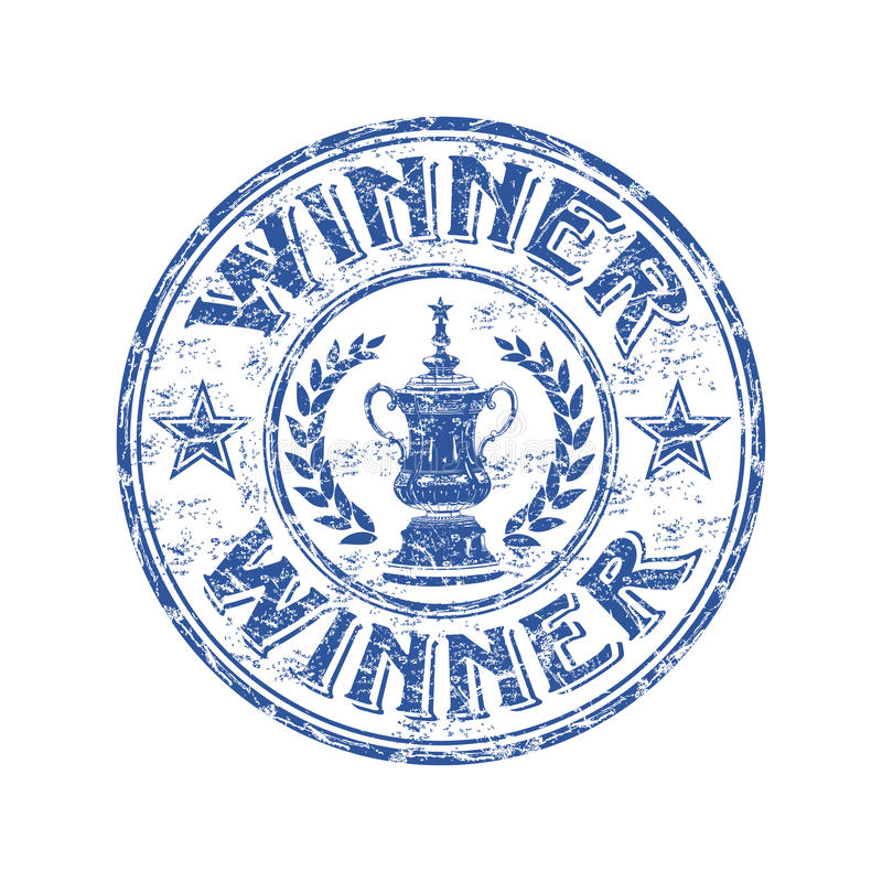 Winner Grunge Rubber Stamp Stock Photography