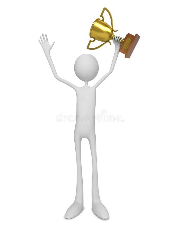 Download Winner. Man Celebrating With Trophy. Stock Illustration - Image: 26854950