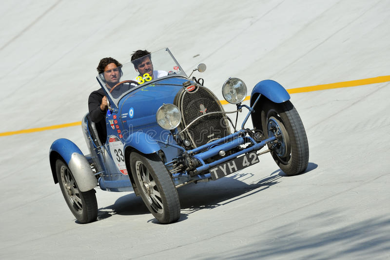 Winner of 1000 Miglia Italian historic race - 2015 edition royalty free stock photography