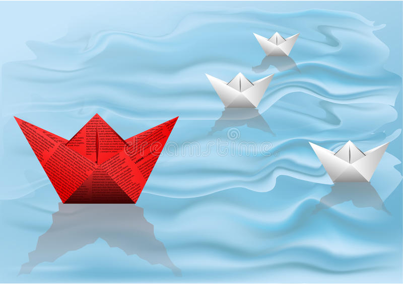 Download Winner paper ship stock image. Image of nautical, water - 32551695