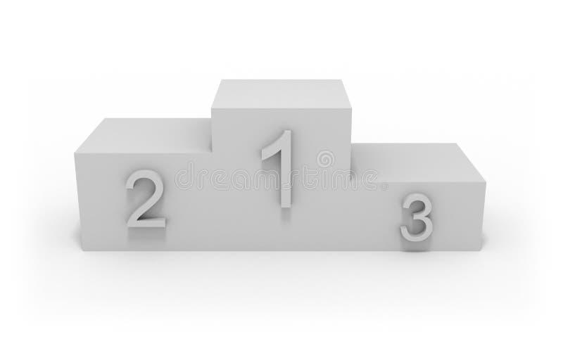 Download Winner Pedestal stock illustration. Image of rivalry - 12694670
