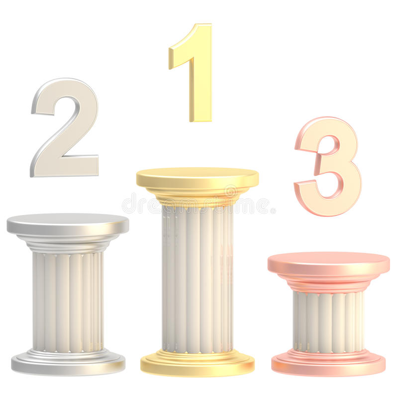 Download Winner Pillars: First, Second, Third Places Stock Illustration - Image: 24235120