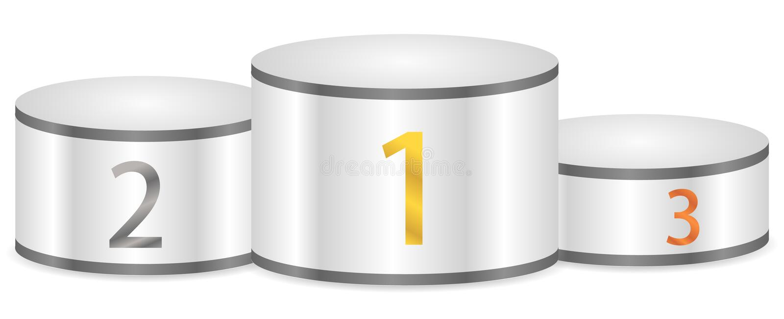 Winner podium royalty free illustration