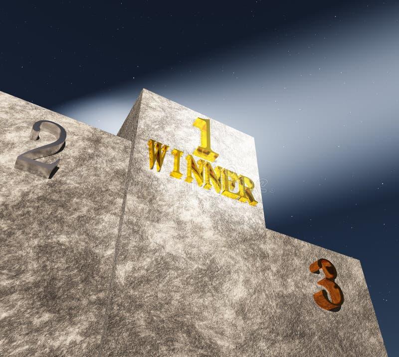 The winner's podium royalty free stock image
