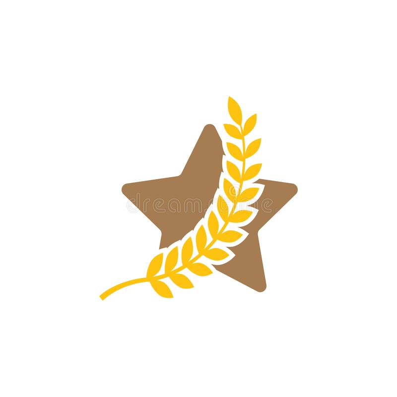 Winner star icon graphic design template vector royalty free illustration
