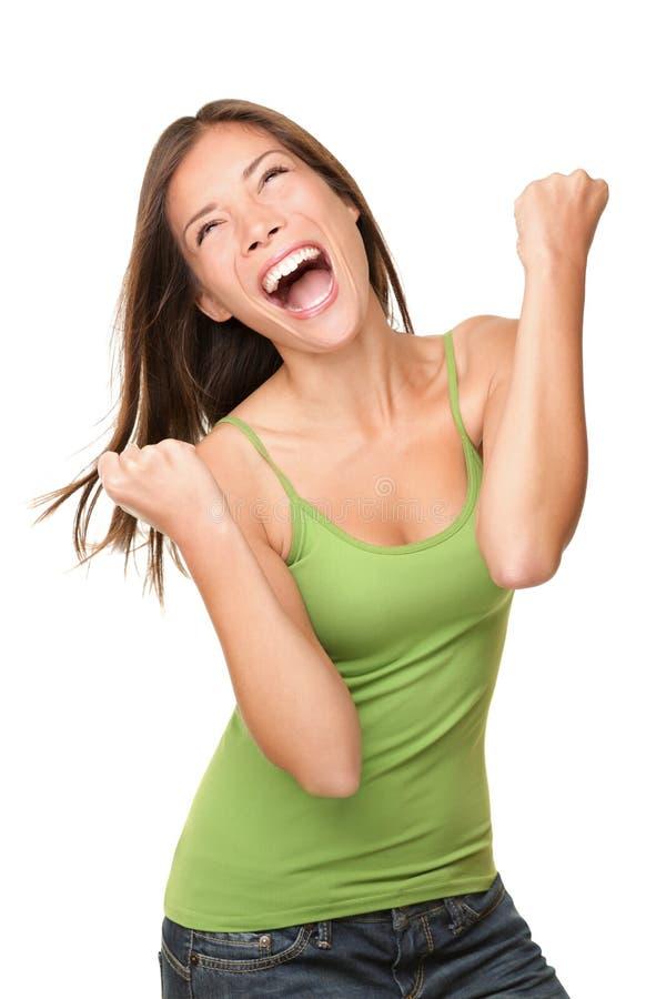 Winner success woman royalty free stock photography