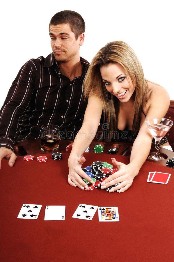 Winner Texas Hold Um stock photography